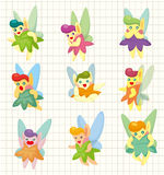 Cartoon little baby fairy icon Royalty Free Stock Image