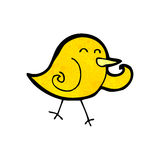 Cartoon little bird Royalty Free Stock Photography