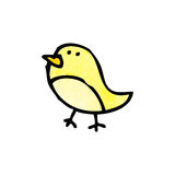 cartoon little bird doodle Stock Images