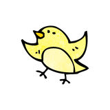 cartoon little bird doodle Royalty Free Stock Photography