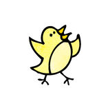 cartoon little bird doodle Royalty Free Stock Photos
