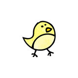 cartoon little bird doodle Stock Photography