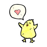 Cartoon little bird in love Royalty Free Stock Images