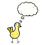 Cartoon little bird with thought bubble Royalty Free Stock Photography