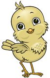 Cartoon little bird 02. Vector cartoon brown chicken with big head and eyes, and funny expression Royalty Free Illustration