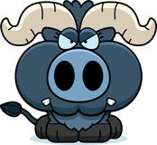 Cartoon Little Blue Ox Angry Stock Images