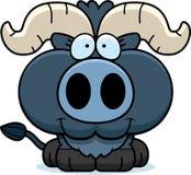 Cartoon Little Blue Ox Smiling Stock Image