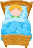 Cartoon little boy fell asleep Royalty Free Stock Images