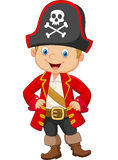 Cartoon little boy pirate captain Stock Image
