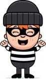 Cartoon Little Burglar Celebrate Stock Photo