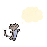 Cartoon little cat Stock Images