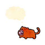Cartoon little cat Stock Image