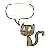 Cartoon little cat Royalty Free Stock Image