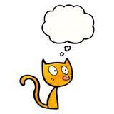 Cartoon little cat Stock Photography