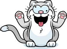 Cartoon Little Cat Crazy royalty free illustration