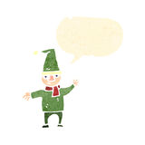 Cartoon little christmas elf Royalty Free Stock Images