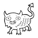 Cartoon little demon Stock Photography