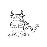 Cartoon little demon Royalty Free Stock Photography