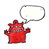 Cartoon little devil Royalty Free Stock Image