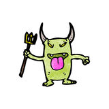 Cartoon little devil Royalty Free Stock Photography