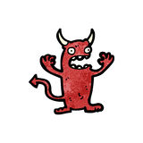 Cartoon little devil Stock Photos