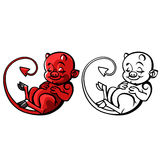 Cartoon little devil or Imp - vector illustration Royalty Free Stock Images