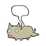 Cartoon little dog cocking leg with speech bubble Royalty Free Stock Photos