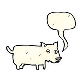 Cartoon little dog with speech bubble Stock Image