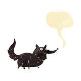 Cartoon little dog with speech bubble Stock Photos