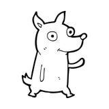 Cartoon little dog waving Royalty Free Stock Photos