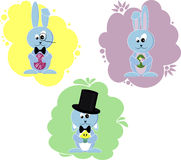 Cartoon little Easter bunny rabbit Royalty Free Stock Image