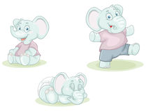 Cartoon little elephants Royalty Free Stock Photos