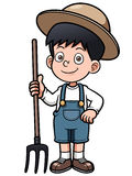 Cartoon little farmer Royalty Free Stock Photography