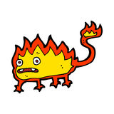 Cartoon little fire demon. Hand drawn cartoon illustration in retro style.  Vector available Royalty Free Stock Photography