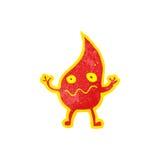 Cartoon little fire spirit Stock Image