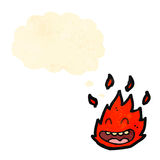 Cartoon little flame creature Stock Photos