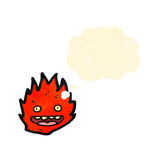 Cartoon little flame creature Stock Image