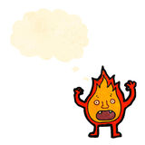 Cartoon little flame creature Royalty Free Stock Photos