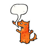 cartoon little fox talking Royalty Free Stock Photography