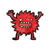 Cartoon little furry monster Stock Photo