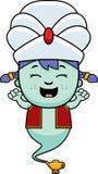Cartoon Little Genie Celebrate Stock Image