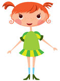 Cartoon little girl Stock Image