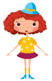 Cartoon little girl Royalty Free Stock Photo