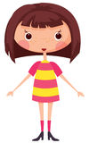 Cartoon little girl Royalty Free Stock Images
