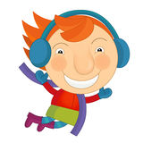 Cartoon little girl Royalty Free Stock Image