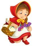 Cartoon little girl Stock Image