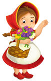 Cartoon little girl Stock Photography