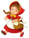 Cartoon little girl Stock Photo