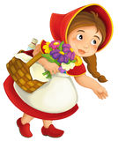 Cartoon little girl Royalty Free Stock Photos