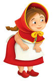 Cartoon little girl Royalty Free Stock Photo